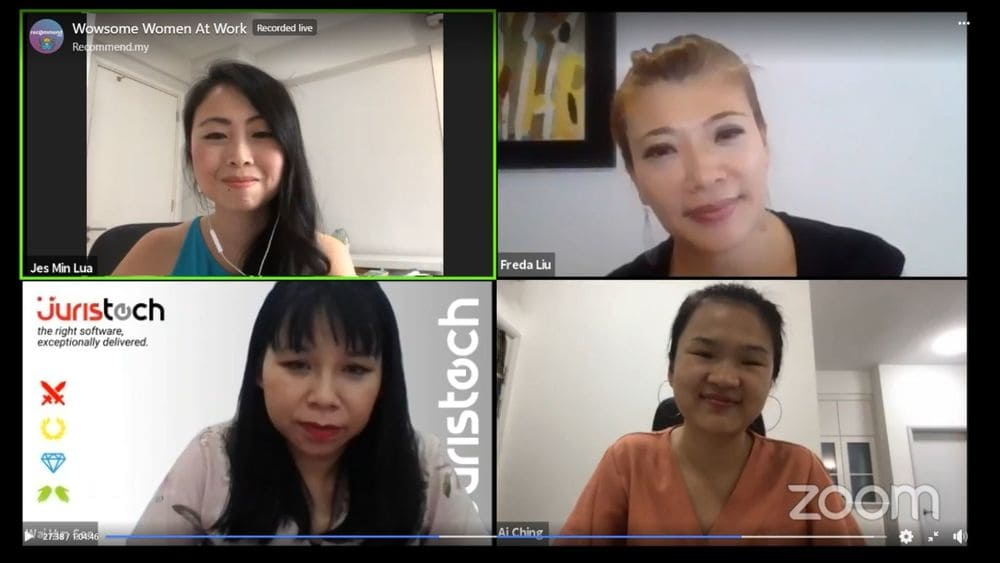 wai hun, see wai hun, freda liu, bfm, piktochart, go ai ching, recommend.my, jes min, juristech, leadership, career woman, women at work