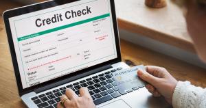 Credit scoring, Credit engine, credit check, laptop, debit card
