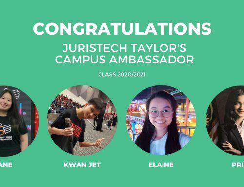 JurisTech Taylor's Campus Ambassador Class 2020/2021 – It's a Wrap!
